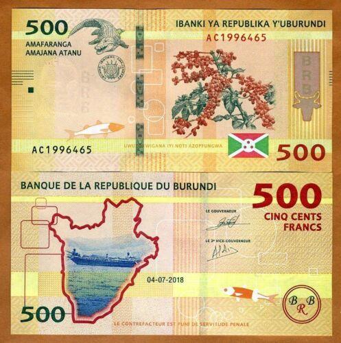 Burundi, 500 Francs, 2018 (2019), P-New, UNC > Improved security