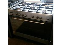 Range cooker gas and electric oven leisure 90cm