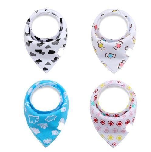 Baby Bandanna Teething Drool Bibs 4 Pack Set Boys Girls Blue