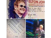 Elton John Tickets X3
