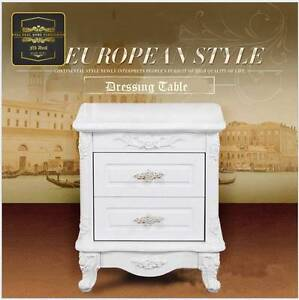 N>French Provincial Wooden Bedside Table Organizer Nightstand Kellyville The Hills District Preview