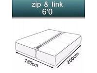 Super king zip lock mattress and frame