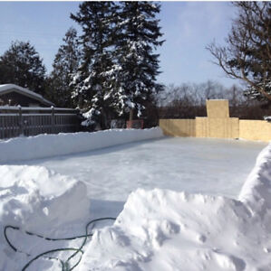 Very large tarp made for outdoor rink / soap hockey