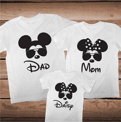 Matching Mickey Minnie Mouse Tees Family Funny T-Shirts Custom Family, - Minnie Mouse Custom