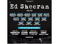 Ed Sheeran x 2 tickets Saturday 26th May Section: 227 Row: F