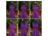 Purple long multiwear dress