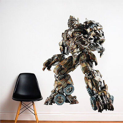 Megatron Decepticons Wall Decal Mural Villains Transformers Wall Stickers, e99 ()