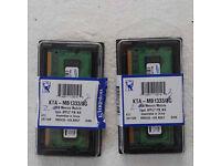 Apple 2Gb Macbook Pro memory cards (x2)