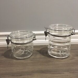 BRAND NEW plastic canister jars set of 2