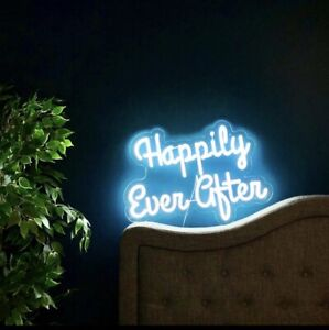 Happily ever after LED neon sign for wedding bridal shower