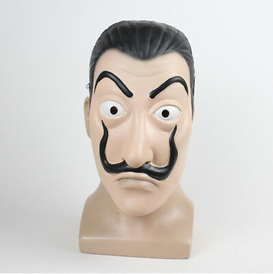 La Casa De Papel Mask Salvador Dali Mascara Money Heist Halloween Cosplay Props - Mascara De Latex Halloween