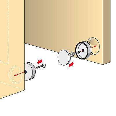 Magnetschnapper 2 Stück im Set zum Versenken in Türe und Rahmen, Türmagnete
