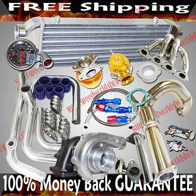 Crx Turbo Kits - Turbo Kits T3/T4 Turbo for 1988-1995 Honda Civic B16 B18 Tubular Manifold