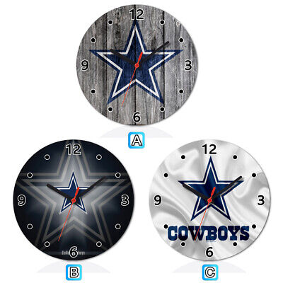 Dallas Cowboys Sport Wooden Wall Clock Modern Home Room Decoration](Dallas Cowboys Room Decor)