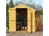 BRAND NEW GARDEN SHED (UNFITTED)
