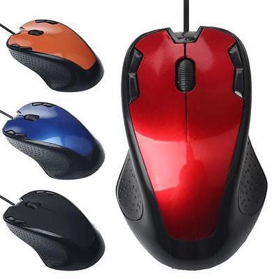 Portable 1800dpi câblée usb optique gaming souris mouse pour pc 4 couleurs