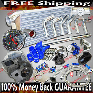 T3 T4 Turbo Intercooler Piping Kit Combo For 04 05 06 07 Mazda Rx 8 Rx8 Fits