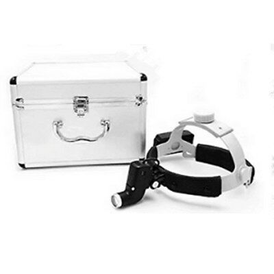 5w Dental Surgical Led Head Light Ent Specific Head Lamp Black Aluminum Box