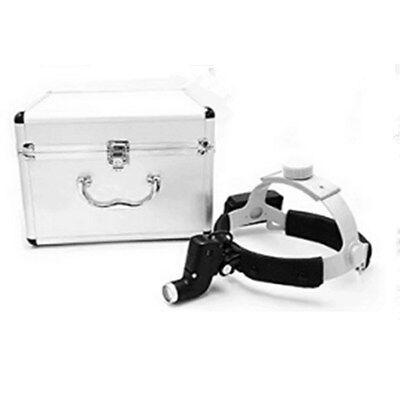 5w Dental Surgical Led Head Light Ent Specific Head Lamp Black Aluminum Box