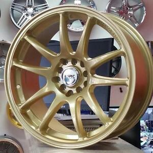 RTX STAG GOLD 18x8.5 5x114.3 5x100 +35 ( 4New Rims $750+Tax) @Zracing 905 673 2828 Rims Wheels Honda