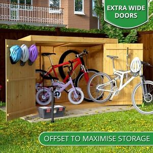 Wooden Bike Storage Shed Garden Bicycle Store Outdoor Tools Patio Cabinet Box BN