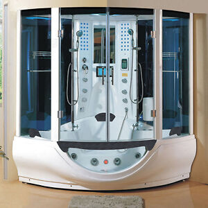 computerized steam shower massage jetted whirlpool hot tub sauna spa