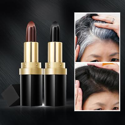 Temporary Cosmetic Cover Grey White Hair Touch Up Hair dye Hair Lipstick Unisex](White Hair Dye Temporary)