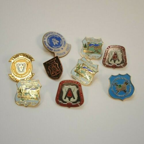 Lot of 9 Carpenters Union Pins Buttons Seattle Area Locals
