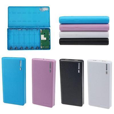 - Protable Dual USB 5V 2A 6x 18650 Power Bank Battery Case Box Charger Flashlight