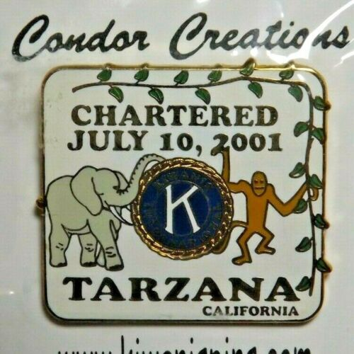 2001 Kiwanis International Lapel Pin Tarzana California Chartered July 10, 2001