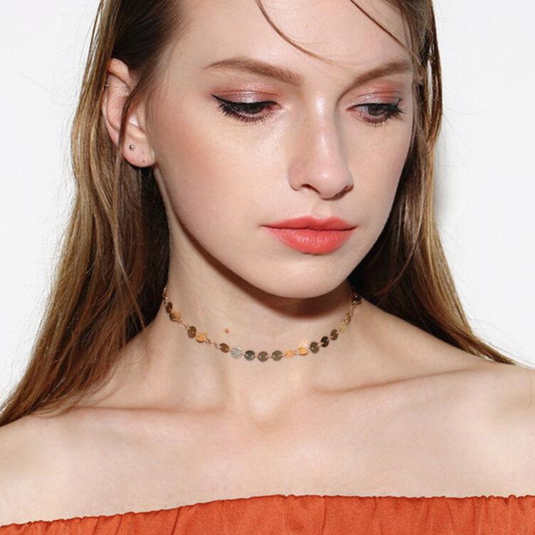 $2.75 - Women Choker Simple Collar Bib Necklace Charm Pendant Gothic Jewelry Necklace