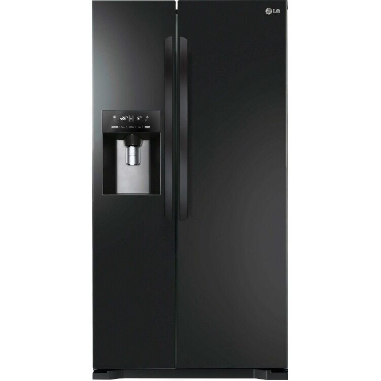 American Fridge With Ice Dispenser Part - 24: LG American Black Fridge Freezer W Ice Maker 506L ,A+ Energy Rating, Mint  Condition
