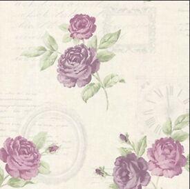 BHF 2532‑20451 Venetia Vintage Rose Toss Wallpaper