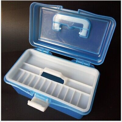 US-nail art Plastic color tool box With portable double transparent storage box