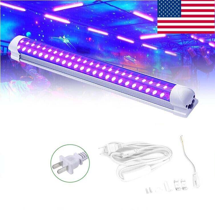 LED UV Black Light Fixtures 395nm Light Bar Strip Party Club DJ Lights Lamp US