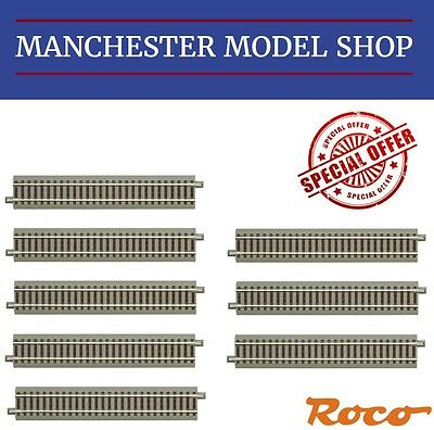 Roco HO 1:87 scale Geoline 8x 61110 G200 Standard Straight track 200mm BRAND NEW