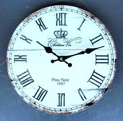 30 cm * WANDUHR * Französische Uhr * Glas Metall * Vintage Retro *  NOSTALGIE