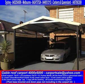 New   gable carport  4 x 6  $1600 or 4 x 9  $ 2300 Canberra City North Canberra Preview
