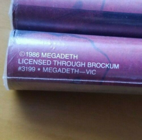 Vintage 1986 MEGADETH Deadstock PEACE SELLS Sealed POSTER Brockum #3199