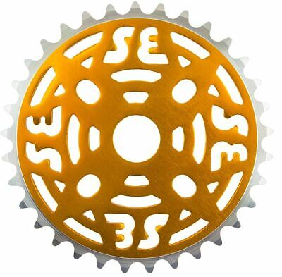 Se Racing Bikes BMX Bicycle 1 Piece Chainring 33t 1/8 Alloy Gold