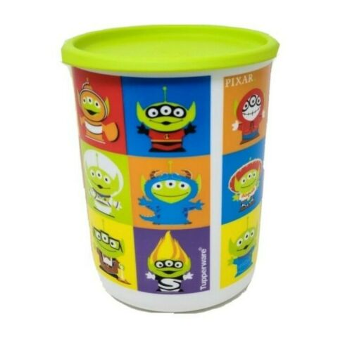 """Tupperware One Touch You Story  Alien Canister 5-cup Canister """"A"""" New"""