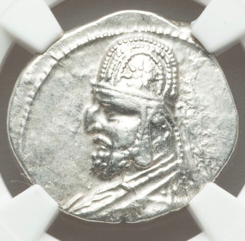 Genuine Certified 87-80 BC NGC XF Parthian AR drachm issued by Mithradates III