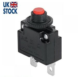 10A Manual Reset Push Button Switch 125/250VAC 32VDC  Thermal Circuit Breaker