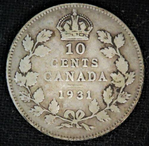 Canada 1931  10 cent Silver Coin