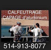 Capage d'aluminium - Portes Fenêtres - Calfeutrage / CAULKING