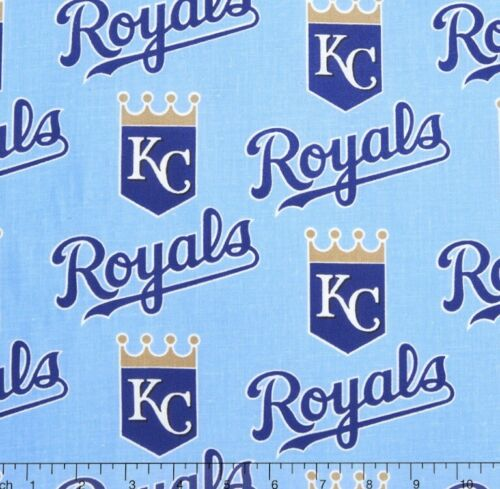 "1/4 Yard 9""x58"" Kansas City Royals Light Blue MLB Baseba"