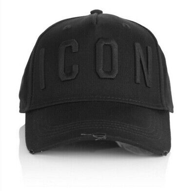 dsquared baseball cap icon black brand new with tags adjustable Dsq2