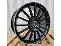 "NEW 19"" MERCEDES C63 AMG BLACK EDITION STYLE ALLOY WHEELS X4 BOXED 5X112 C E CLASS COUPE E350 C200"