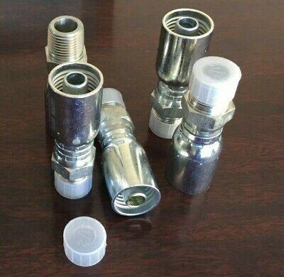 5 Pack 38 Male Pipe Swivel 38 Hose Hydraulic Hose Crimp Fittings 06u-j06