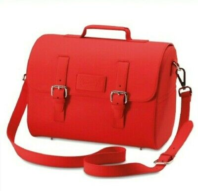 Vespa 946 Red Roll Top Leather Bag